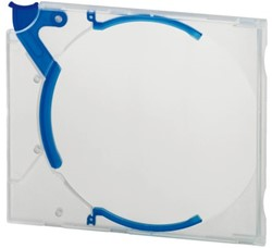 Cd opbergbox Quickflip standaard blauw 5stuks