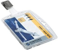 Veiligheidspashouder Durable 8005 dicht met clip 54x85mm