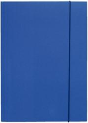 Elastomap folio 3 kleppen blauw