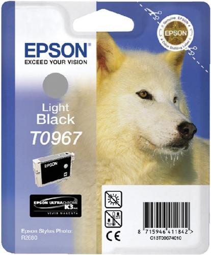 Inktcartridge Epson T0967 lichtzwart