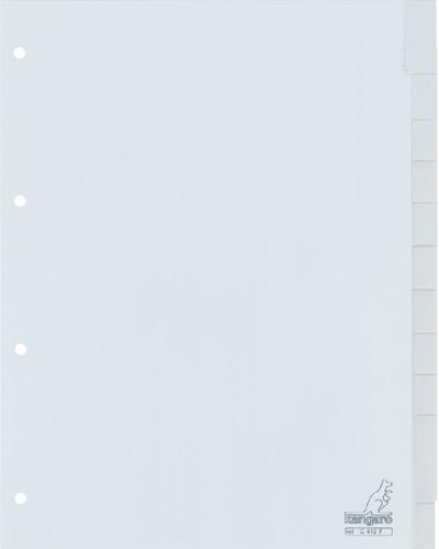 Tabbladen Kangaro 4-gaats G412F 12-delig+venster grijs PP