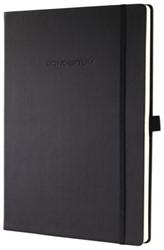 Notitieboek Conceptum CO110 187x270mm zwart blanco