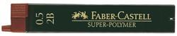 Potloodstift Faber Castell 0.5mm 2B 12stuks