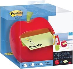 Memoblokdispenser 3M Post-it Z-Notes 76x76mm appel