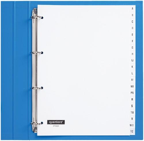 Tabbladen Quantore 4-gaats 20-delig met alfabet wit PP