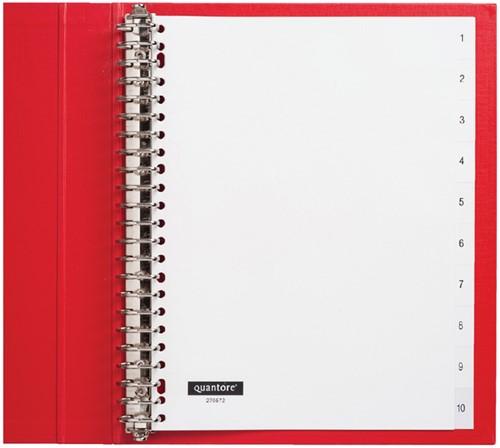 Tabbladen Quantore 23-gaats 1-10 genummerd wit PP