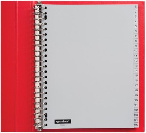 Tabbladen Quantore 23-gaats 1-100 genummerd grijs PP
