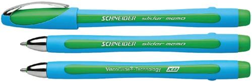 Balpen Schneider Slider Memo groen extra breed