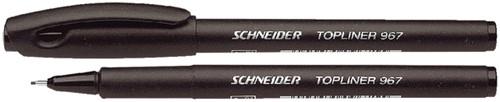 Fineliner Schneider 967 zwart 0.4mm
