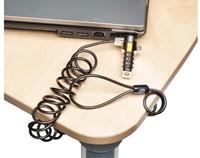 Beveiligingsset Kensington portable laptop lock metaal/zwart-1