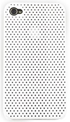 Telefoonhoes Dresz iPhone 4/4S perforated wit