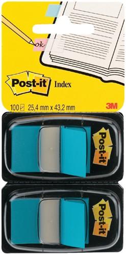Indextabs 3M Post-it 680 25.4x43.2mm duopack blauw