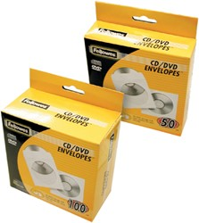 Cd/dvd hoes Fellowes met klep wit
