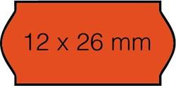 Prijsetiket 12x26mm Open-Data C6 permanent fluor rood