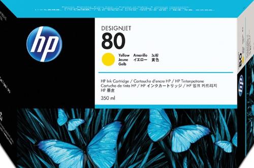 Inktcartridge HP C4848A 80 geel