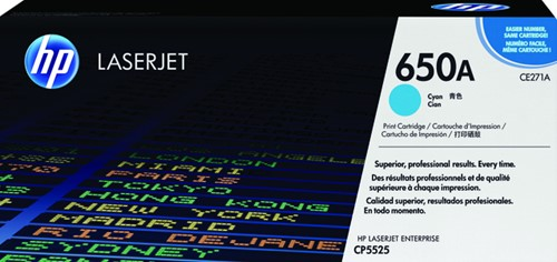Tonercartridge HP CE271A 650A blauw