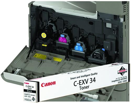 Tonercartridge Canon C-EXV 34 zwart