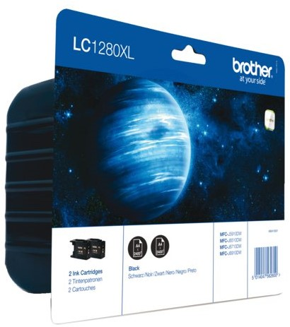 Inktcartridge Brother LC-1280XLBKBP2 zwart 2x HC