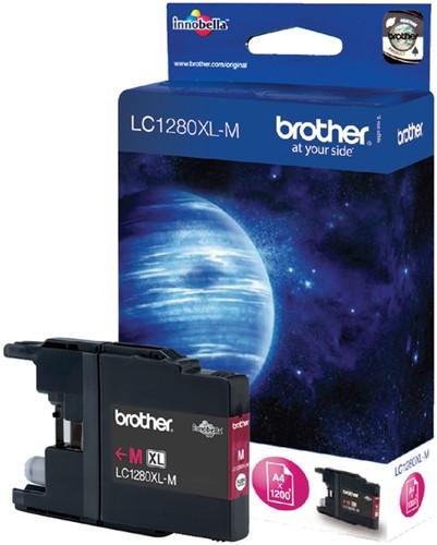 Inktcartridge Brother LC-1280XLM rood HC