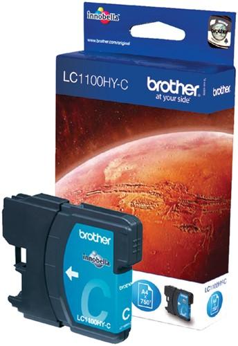 Inktcartridge Brother LC-1100HYC blauw HC