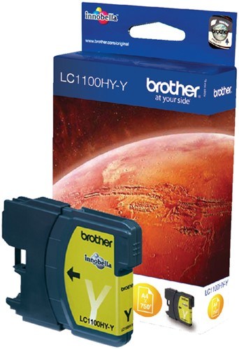 Inktcartridge Brother LC-1100HYY geel HC