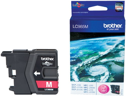 Inktcartridge Brother LC-985M rood