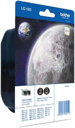 Inktcartridge Brother LC-1000BK2 zwart 2x