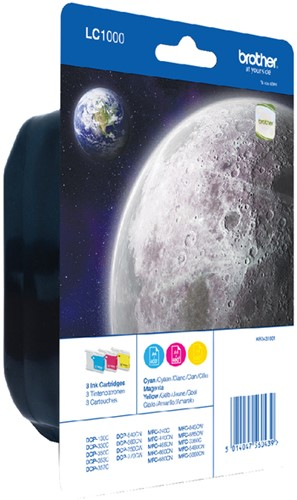 Inktcartridge Brother LC-1000RBWBP 3 kleuren