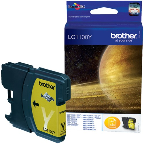 Inktcartridge Brother LC-1100Y geel