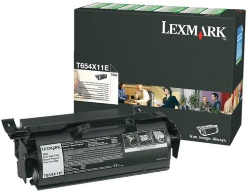 Tonercartridge Lexmark T654X11E prebate zwart HC