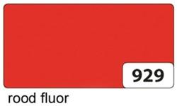 Etalagekarton folia 48x68cm 400gr nr929 fluor rood