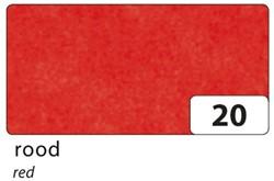 Zijdevloeipapier Folia 50x70cm 20g nr23 rood set à 5vel