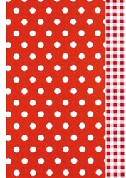 Apparaatrol Kaleidoscope 175mx50cm dots/vichy rood