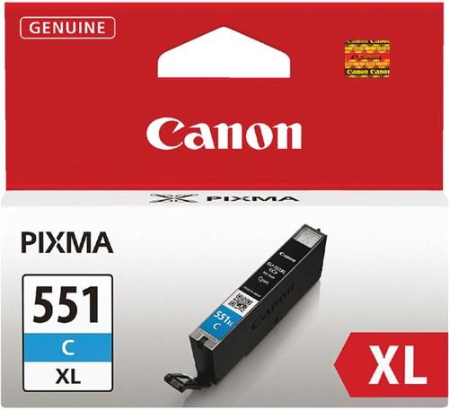 Inktcartridge Canon CLI-551XL blauw HC