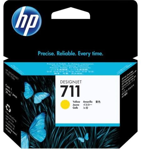 Inktcartridge HP CZ132A 711 geel