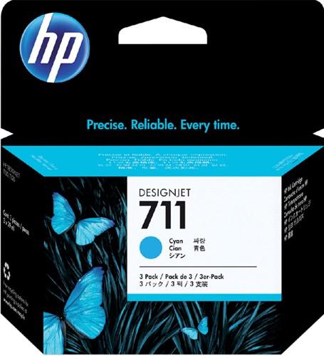 Inktcartridge HP CZ134A 711XL blauw HC