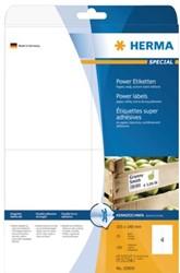 Etiket Herma 10909 105x148mm A6 extra sterk wit 100stuks