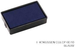 Stempelkussen Colop 6E/10 blauw
