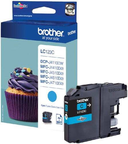 Inktcartridge Brother LC-123C blauw