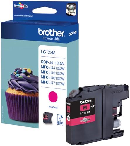 Inktcartridge Brother LC-123M rood