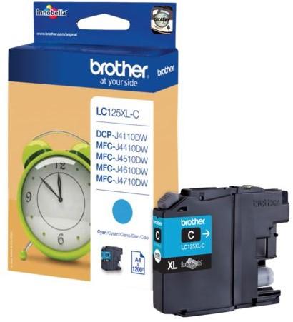 Inktcartridge Brother LC-125XLC blauw HC