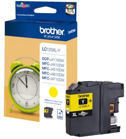 Inktcartridge Brother LC-125XLY geel HC