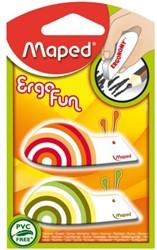 Gum Maped ergo fun blister à 2 stuks assorti
