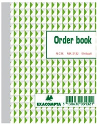 Orderboek Exacompta 135x105mm 50x2vel