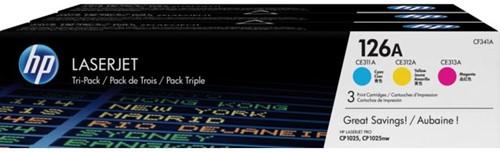 Tonercartridge HP CF341AM 126A 3 kleuren
