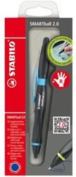 Balpen Stabilo Smartball rechts zwart/blauw 0.5mm