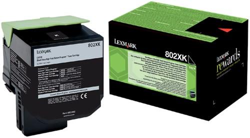 Tonercartridge Lexmark 80C2XK0 prebate zwart HC