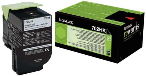 Tonercartridge Lexmark 70C2HK0 prebate zwart HC