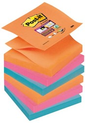 Memoblok 3M Post-it Z-Note S350-6EG 76x76mm Super Sticky Ban