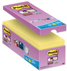 Memoblok 3M Post-it 654-P16 Super Sticky 76x76mm geel